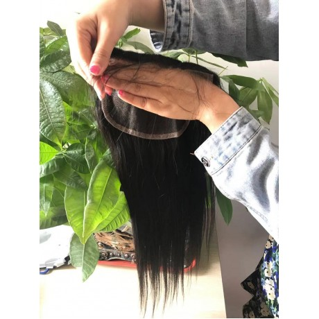 6x6 HD Lace Closure Silky Straight / Body wave HD Lace Closure preplucked hairline fedex free shipping