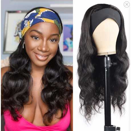 NEW Body wave QUICK &EASY HEADBAND HUMAN HAIR WIG-HB006