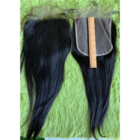 6x6 normal brown lace Human Hair Lace Closures silky straight/Body Wave virgin human hair