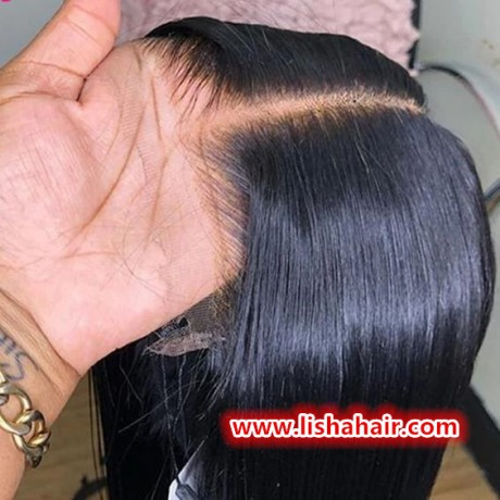 13x6 HD lace frontal wig virgin brazilian human hair silky straight style