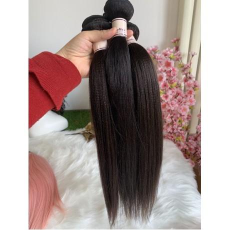 10A+ Light Yaki Straight virgin indian human Hair Bundles Natural Color  3pcs lot