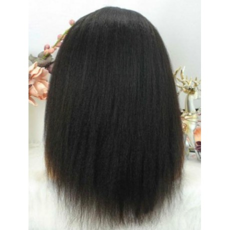 NEW KINKY STRAIGHT QUICK &EASY HEADBAND HUMAN HAIR WIG-HB001