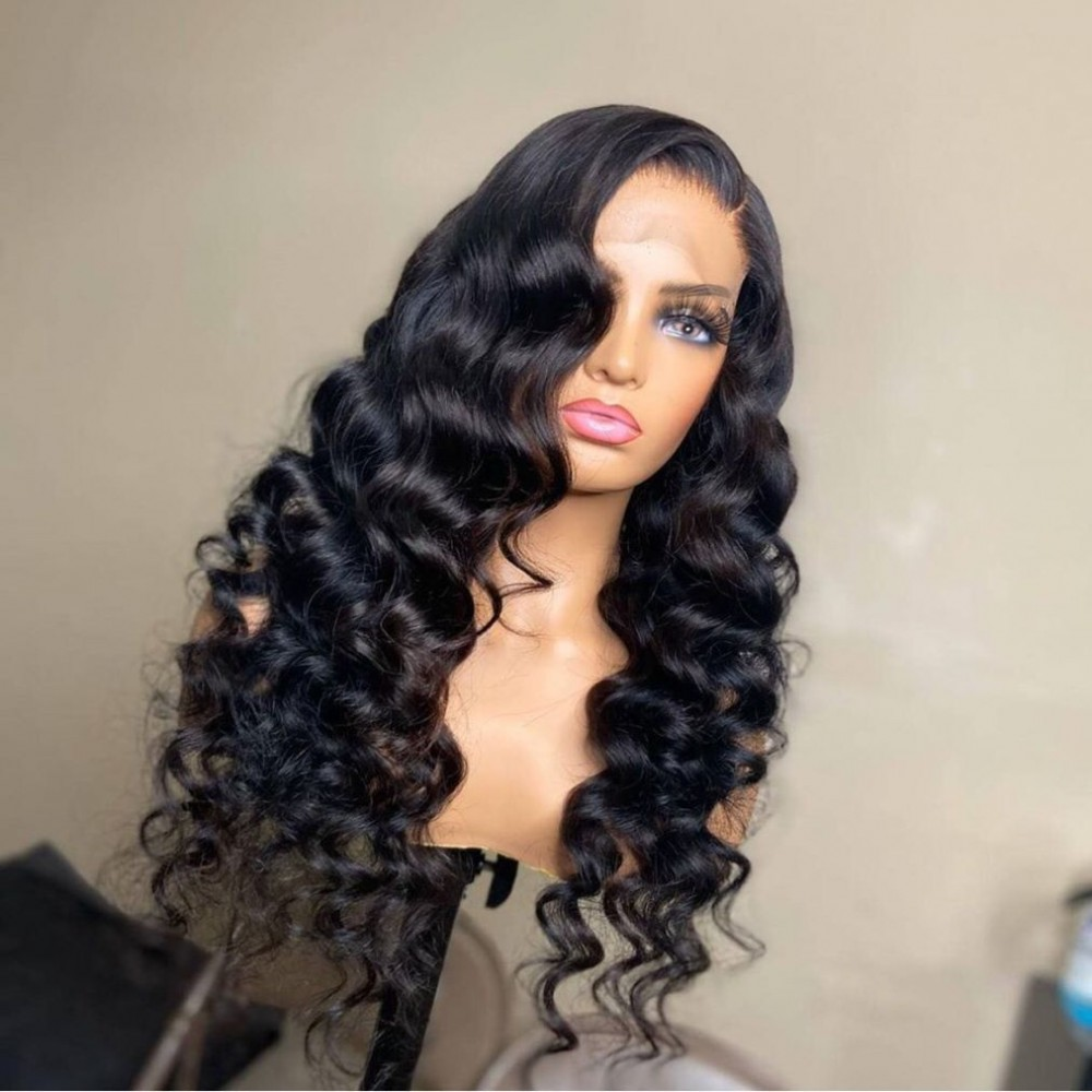 Brazilian Loose Wave curly Lace Front Human Hair Wigs Pre Plucked Lace Frontal Wig With Baby Hair  Lace Front Wig LS752