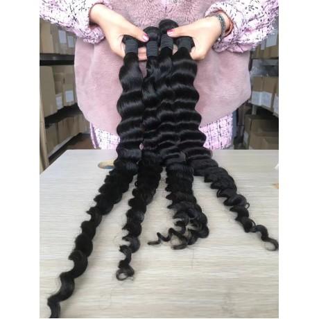 10A+ high grade Loose deep Wave virgin Hair Bundles 100% Human Hair Bundles Natural Color 3pcs/lot