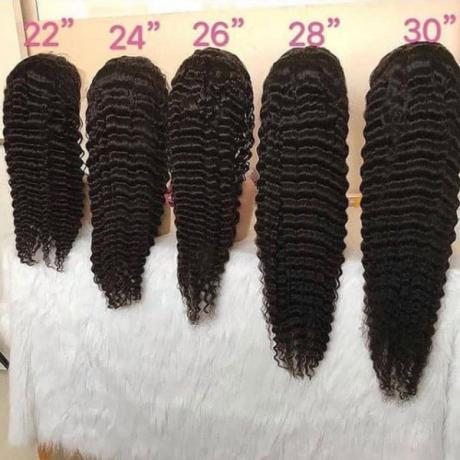 180% density lace front wigs Deep wave virgin brazilian human hair style LS12172
