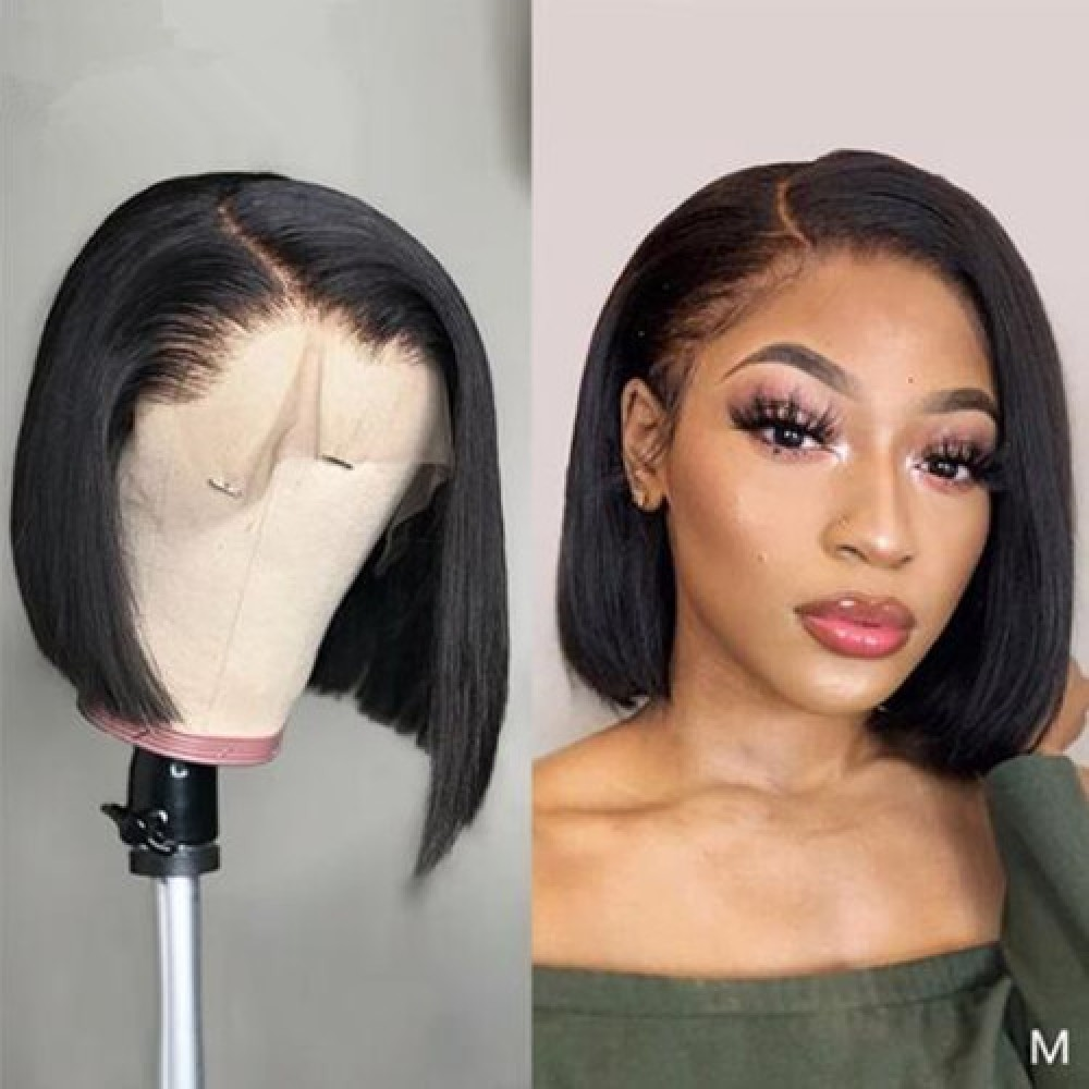 180% density 12inch straight bob Lace Front Wigs Short Brazilian straight Lace Wigs 13x4 Glueless Lace Front Human Hair Wigs