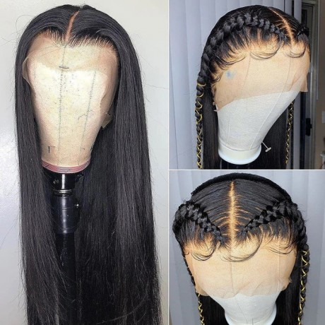13x6 transparent lace front wig Straight Lace Human Hair Wigs For Black Women virgin brazilian hair 180% density
