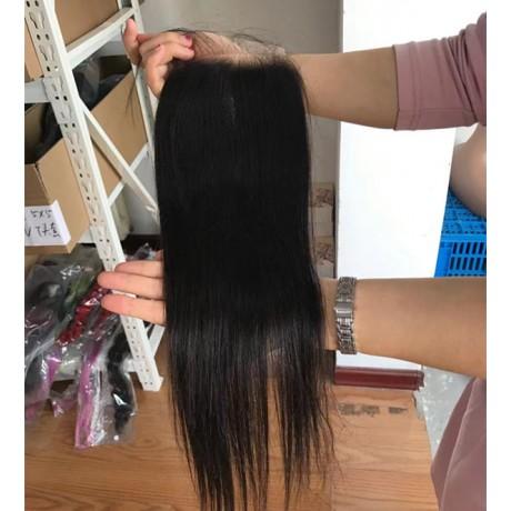 Lisha hair Body Wave 4x4 HD Lace Closure Straight HD Lace Closure Pieces DHL free shipping