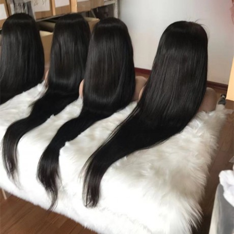 32 34 36 40inch human hair lace front wig transparent lace 13x4 frontal wig 180% density silky straight in stock ! ready to ship !