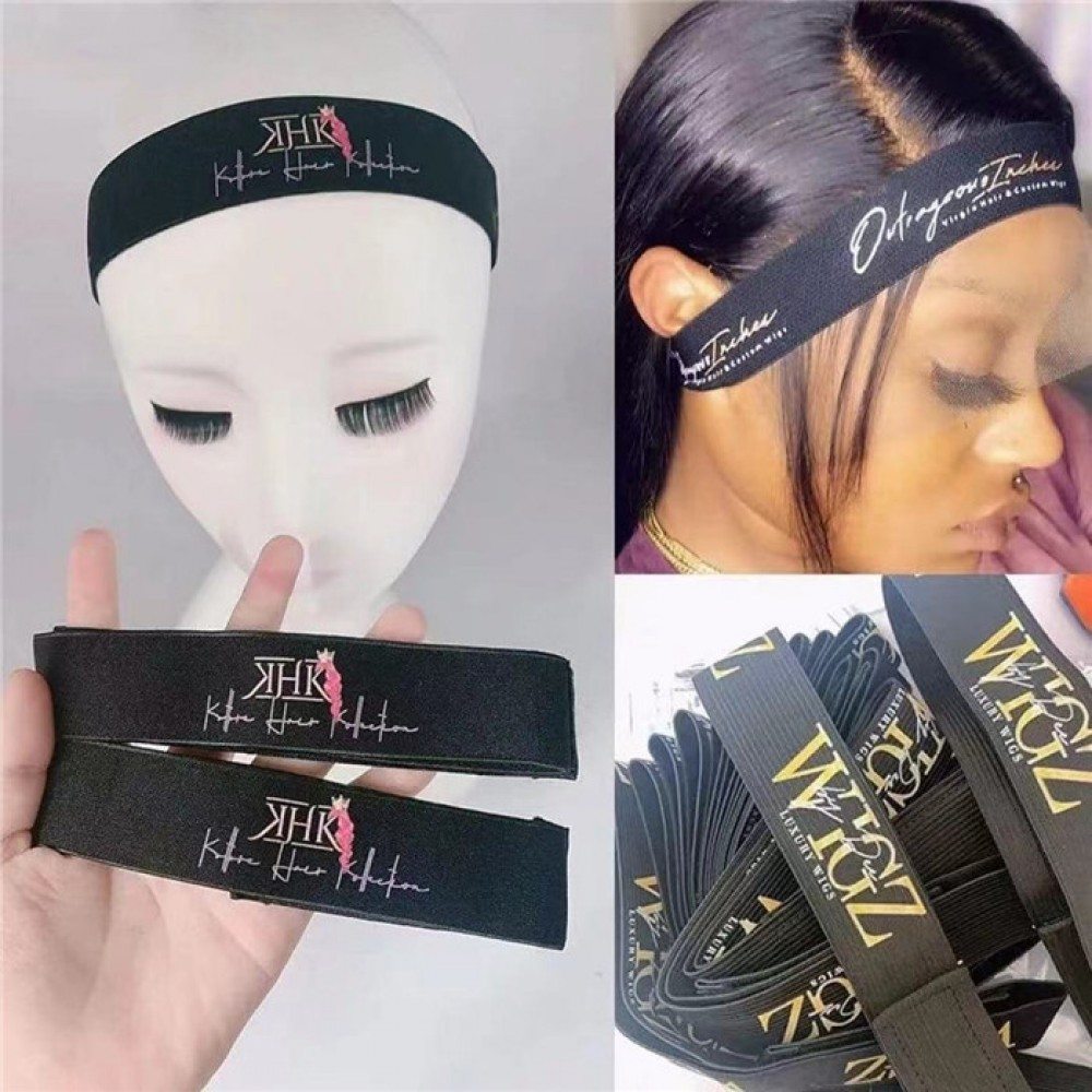 Baby hair black color Elastic band with cusomized logo style 10pcs/lot