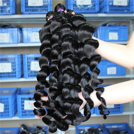 10 A Loose Wave Hair Bundles Brazilian Hair Weave Bundles 100% Human Hair Bundles Natural Color 3pcs