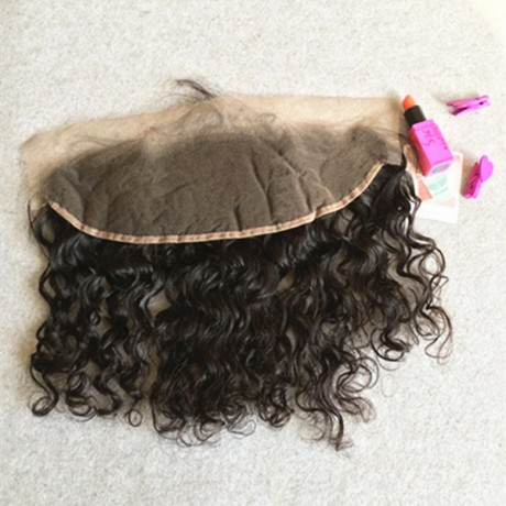 virgin brazilian Pre Plucked Ear To Ear 13x4 Lace Frontal Closure wet wavy style With Baby Hair