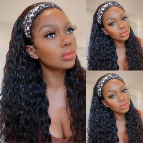 NEW Natural wave QUICK &EASY HEADBAND HUMAN HAIR WIG-HB002