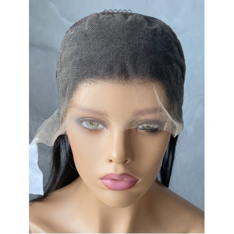 13x4 HD Lace Front Wigs Silky Straight Brazilian Virgin remy human Hair pre plucked hairline