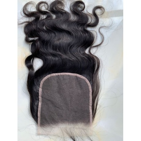 6x6 Transparent lace closure small knots virgin Human Hair Pre Plucked Natural Hairline